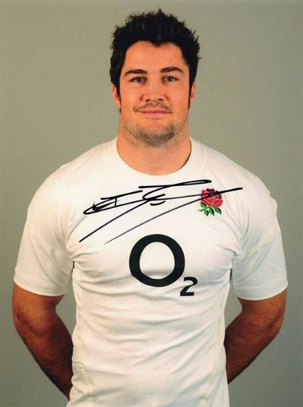 Brad Barritt, Saracens & England, signed 8x6 inch photo.